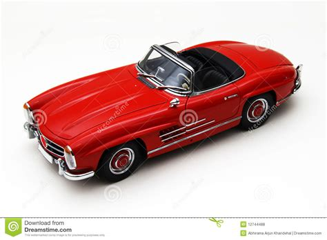 Model Of A Red Classic Car Stock Photo. Image Of