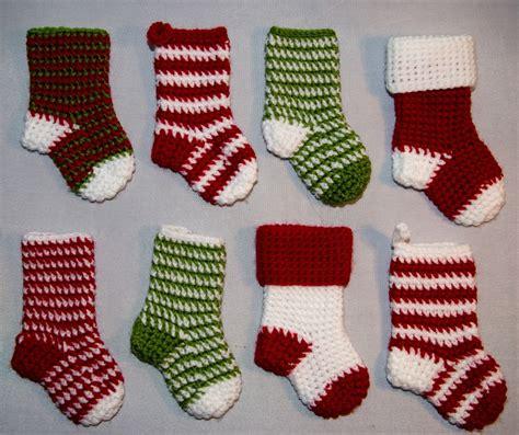 Christmas Mini Stocking Crochet Pattern