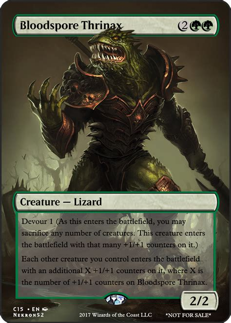 bloodspore thrinax     suggestions   card