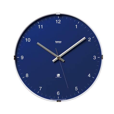 blue candles modern wall clock wilhelmina designs