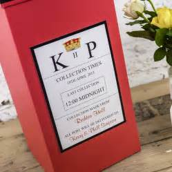 personalised wedding guest book personalised wedding post box by dreams to reality design