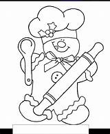 Gingerbread Coloring Chef Sheets Dessin Embroidery Sum Crewel Bonhomme Patterns Xmas Pain Para Boy Printables Noel Natal Colors Getcolorings Printable sketch template