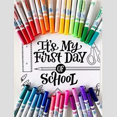 "Free Hand Lettered ""my First Day Of School"" Printables  Amanda Arneill  Hand Lettering"