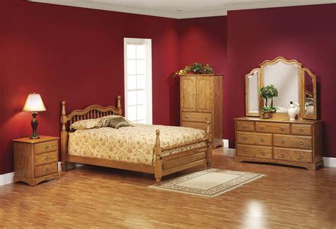 Mahogany Wood Bedroom Furnishings Set With Wardrobe And