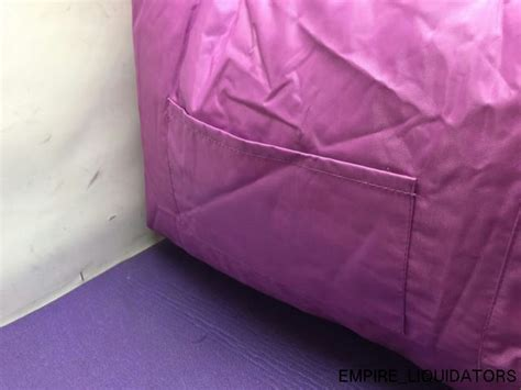 Big Joe Bean Bag Dorm Chair In Purple