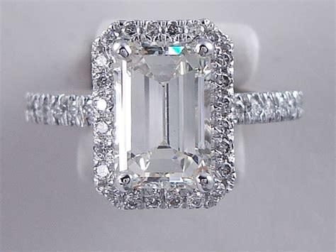 254 Ctw Emerald Cut Diamond Engagement Ring H Vs1
