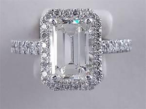 1 5 Carat Diamond Price Chart 2 54 Ctw Emerald Cut Diamond Engagement Ring H Vs1
