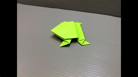 daily origami  jumping frog  youtube