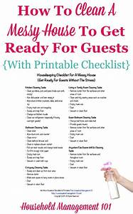 Housekeeping Checklist For A Messy House: Get Ready For ...