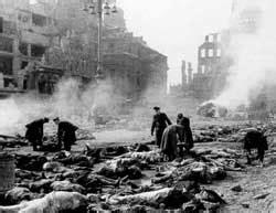 bombing  hamburg dresden   cities world war