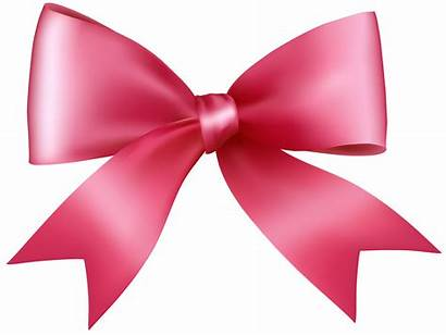 Bow Transparent Pink Clipart Clip Background Bows