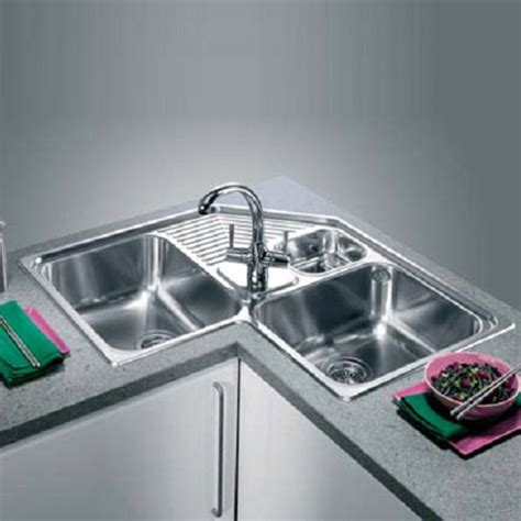 corner stainless steel kitchen sink home design living room corner kitchen sinks 8368