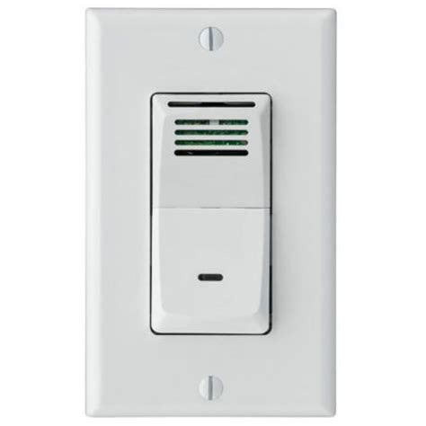 sensaire humidity sensing wall switch for bath exhaust fan