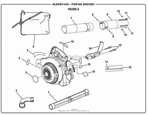 Homelite Bm254bv Backpack Blower Parts Diagram For Figure A