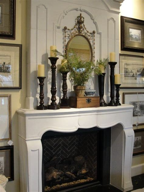 fireplace mantel candle holders fireplace white