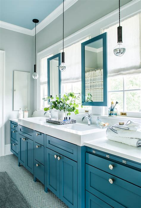 Colorful Bathroom Vanity by 17 Sublime Transitional Bathroom Designs You Will