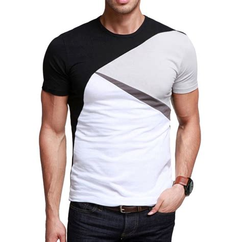 color block t shirt kuegou classic color block t shirt code 20126694 s