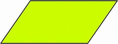 Parallelogram Clipart Shapes Transparent Background Svg Geometry