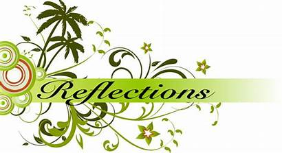 Reflection Reflections Clipart Word Peace Clip Aging