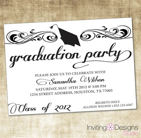 graduation invitation templates  graduation