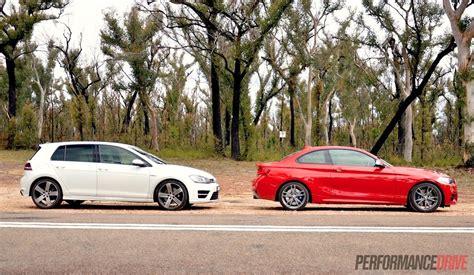 volkswagen bmw bmw m235i vs volkswagen golf r performance comparison