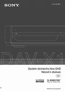 Sony Dav X1 Home Theater Download Manual For Free Now