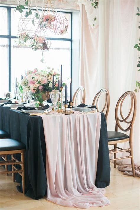 25 Chic Blush and Black Wedding Ideas Page 5 Hi Miss Puff