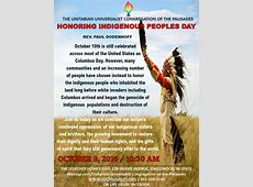HONORING INDIGENOUS PEOPLES DAY – Rev Paul Dodenhoff