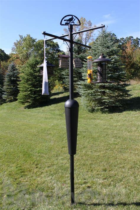 squirrel stopper black bird feeder post assembly sqc05