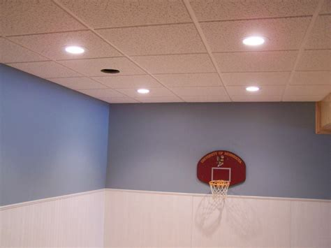 Drop Ceiling Tiles For Basements by Zotz Electrical Recess In Dropped Tile Ceiling