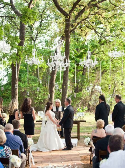 outdoor wedding chandelier  romantic wedding ideas