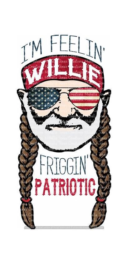 Willie Patriotic Feelin Friggin Sublimation Transfer Dye