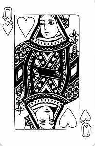 13 Images of King Of Hearts Card Coloring Page - Queen of ...