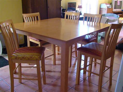table bar de cuisine 8 chaises en bois table et chaise enbois