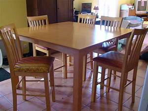 Table De Cuisine Et Chaises : table bar de cuisine 8 chaises en bois table et chaise enbois ~ Teatrodelosmanantiales.com Idées de Décoration