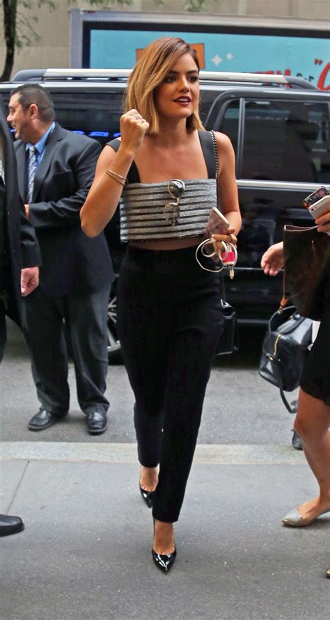 LUCY HALE Arrives at NBC Studios in New York 08/06/2015 ...