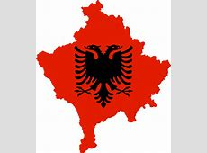 FileKosovo with flag of Albaniasvg Wikipedia