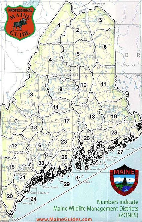 Maine Hunting Zone Maps - Maine Wildlife Management Zones ...