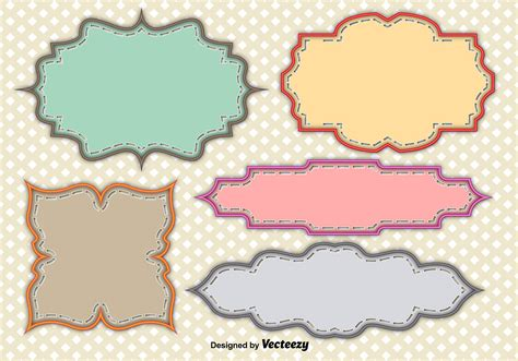 vintage vector labels   vector art stock