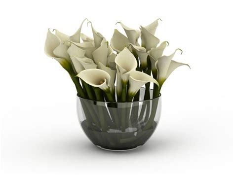 white calla lily flower arrangement  model ds max files