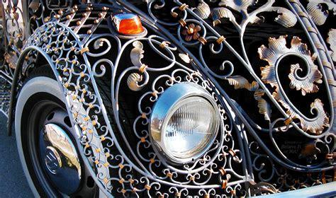 amazingly intricate wrought iron vw beetle
