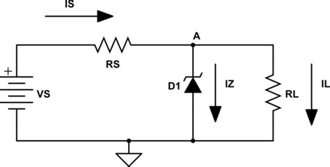 Circuit Analysis Voltage Across Zener Diode Electrical