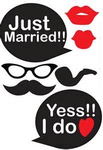 Free Printable Wedding Booth Prop Templates