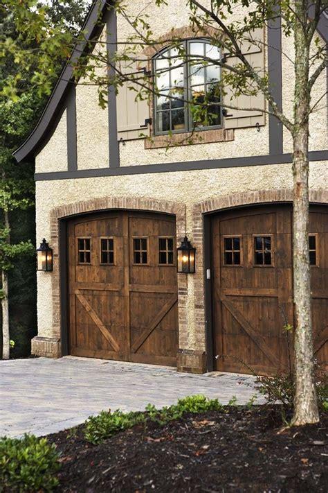 garage door trim ideas Exterior Craftsman with brick