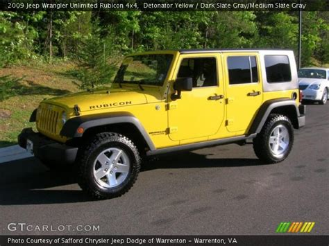 yellow jeep interior detonator yellow 2009 jeep wrangler unlimited rubicon