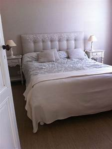 Tete Lit Capitonnée : t te de lit capitonn e faite maison inspiration chambre ~ Premium-room.com Idées de Décoration