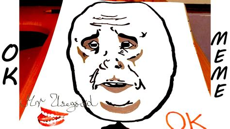 How To Draw A Meme Face - diy how to draw meme faces step by step memes draw okay guy a stickman my crafts and diy
