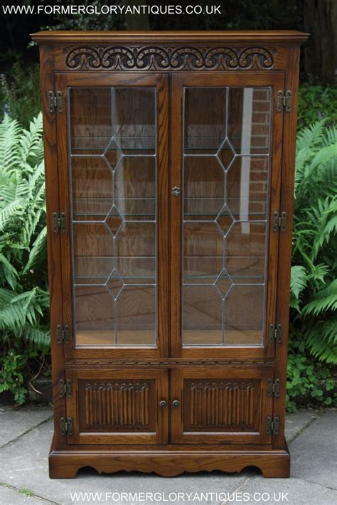 charm light oak china display cabinet cupboard