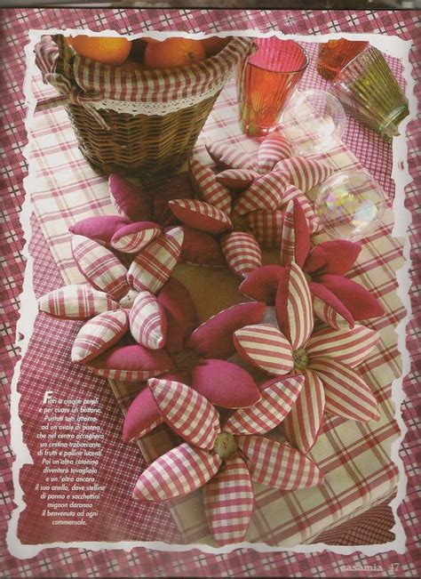 cucito creativo fiori di stoffa casa cuori e country cartamodello stelle di natale in