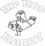 Hop Hip Coloring Pages Sheets Harry Dance Rap Album Printable Books Graffiti Abstract Little Google Popular Template sketch template